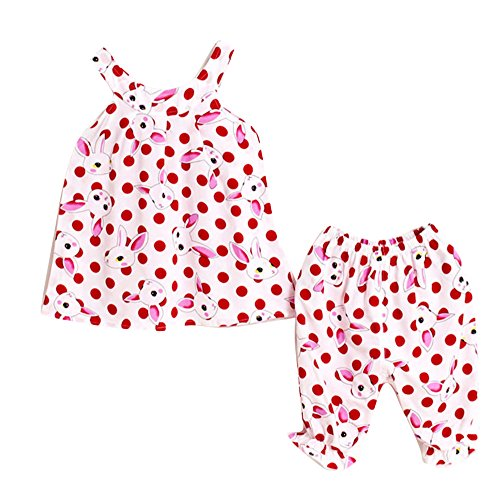 Sommer Kinder Set, Baby Mädchen Nette Weste Tops + Knickerbocker Hosen Outfits Kleidung Set
