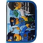LEGO-Bags-Astuccio-scolastico-20-pezzi-pieno-Astuccio-Astuccio-con-LEGO-CiTY-motivo-Police-Chopper-Astuccio-ca-20-cm