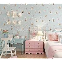 3D grueso no tejido papel tapiz que cubre la pared rollo de dibujos animados oso niños dormitorio niña niño habitación decoración pared del papel pintado 10 * 0.53m