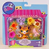 Littlest Pet Shop - Sweet Safari Friends Set - incl. #3200 Jaguar & #3201 Monkey Friend & #3202 Zebra Friend & #3203 Elephant Friend & #3204 Lion Friend - Hasbro A4595