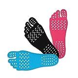 Aelegant Unisex Stick-on Soles unsichtbare selbstklebend Foot Pads Flexibler Füße Schutz Klebesohlen Anti-Rutsch Zum Barfußlaufen Walking Einlegesohlen (EU 36-39(Länge-23cm), 3xRosa/Set)