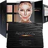 Aesthetica Cosmetics Contour and highlighting Powder Foundation palette/contouring makeup kit–facili da seguire passo dopo passo istruzioni incluse