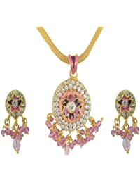 Aakhi golen Metal 3-piece Jewellery Set for Women