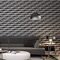 ZHAORLL Figura 3D geométrica Simple Papel Pintado Enrejado Abstracto salón Dormitorio Restaurante Tienda de Ropa Papel