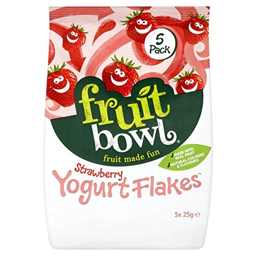 Fruit Bowl Yogurt Strawberry Fruit Flakes 5 x 25g