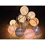 The Kingdom Store Cotton Ball,Light (Batteries Included)Decorative Fairy Lights 1.8M/6Ft