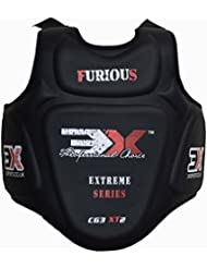 3X Sports Poitrine Protecteur Corps MMA Armour Ventre Tampons Chest Guard Karate