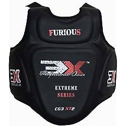 3x Deportes Pro Karate MMA–Protector de pecho Protector de cuerpo de Armour de Muay Thai Kick Boxing Old