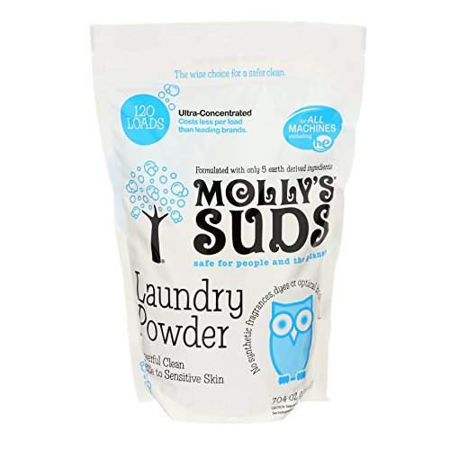Molly's Suds Natural Laundry Powder Of Parabens & Harsh Chemicals Fragrance & Dye 120 Loads