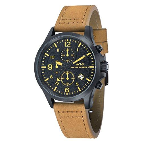 avi-8-av-4001-09-cronografo-da-polso-analogico-da-uomo-cinturino-in-pelle-colore-marrone
