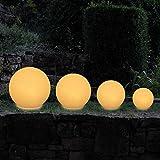 MAXCRAFT Gartenleuchte Rund Gartenlampe Gartenbeleuchtung Lampe Kugel Außenleuchte Kugelleuchte Außen für Garten...