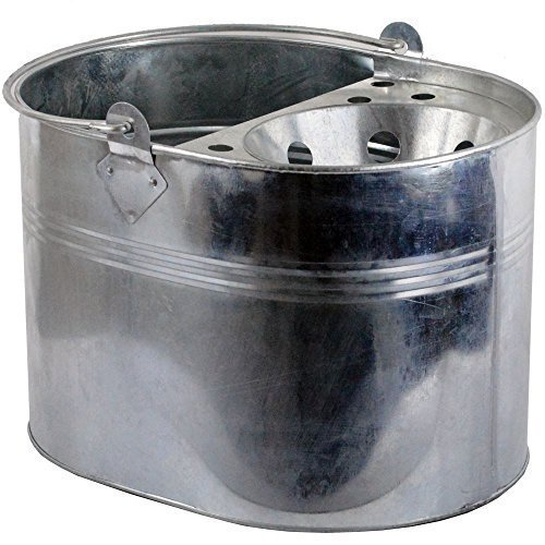 home-discountr-14l-litre-mop-bucket-galvanised-metal-heavy-duty-industrial-cleaning