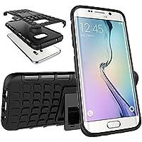 Urvoix pour Galaxy S7Edge, hybride Heavy Duty double couche antichoc robuste Coque Grenade Grip Pneu texturé Coque avec pied pour Samsung Galaxy S7edge G935(non S7)