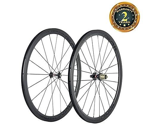 WINDBREAK BIKE Ultra Light 700C 38mm Clincher 23mm Width Carbon Road Bicycle Colored Wheelset
