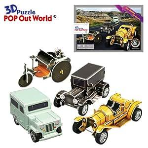 pop out monde 3d puzzle v hicules de voiture series historique voitures avec roues. Black Bedroom Furniture Sets. Home Design Ideas