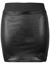 Lush Clothing B37-schwarz Lack-optik Glänzend Kunstleder Shorts Pvc Mini Rock-Größe-neu