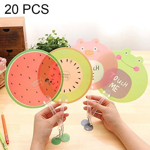 Easy Go Shopping 20 pcs créatif Mignonne Fruits Bande dessinée Main Ventilateur Fans Enfants Cool Décoration de Meubles