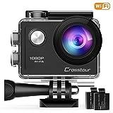 """Crosstour Action Sport Cam Wifi 1080P Full HD Unterwasserkamera 2"""" LCD 170� Weitwinkelobjektiv Helmkamera mit 2 Akkus 1050mAh und Zubeh�r Kits Bild"""