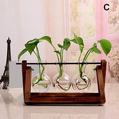 Remaxm 1pz piante vaso di vetro, vaso in vetro idroponica piante desktop pianta in vetro da appendere, vasi, desktop lampadina vaso di vetro vaso provetta vaso, pianta idroponica trasparente vaso c