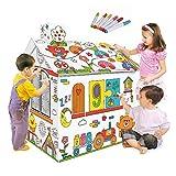 Decdeal DIY 3D Karton Spiel Haus Kit Playhouse Kinder Lernspielzeug zum Zusammenbauen und Bemalen...