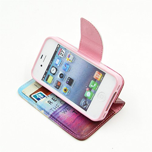 4S Coque, iPhone 4s Coque, Lifeturt [ Amandier ] Coque Dragonne Portefeuille PU Cuir Etui en Cuir Folio Housse, Leather Case Wallet Flip Protective Cover Protector, Etui de Protection PU Cuir Portefeu E02-On n'a pas pris16923