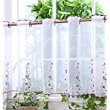 """Baño Voile cortina de visillo paneles–D5–Isabella–24""""–Cortinas para Cocina"""