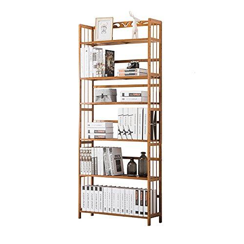 Shelf ZHANGRONG- Natürliche Hohe Kapazität Bücherregal 4/5/6-Tier Bambus Einfache Multilayer Massivholz Regal Einfache Bücherregal - Wanddekoration (Größe : 70*26*175cm) 6-tier-bücherregal
