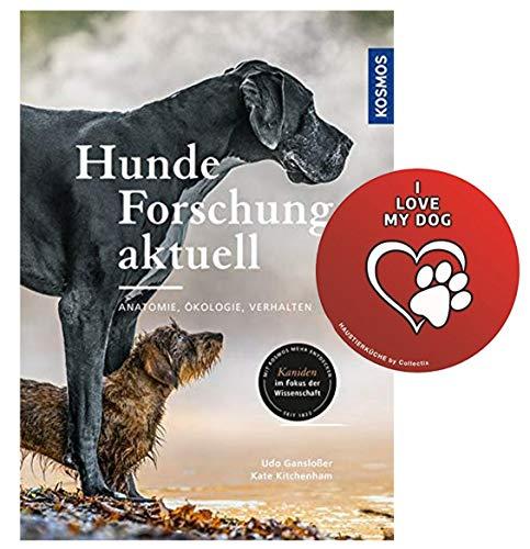 Kosmos Hunde-Forschung aktuell: Anatomie, Ökologie, Verhalten Gebundenes Buch + I Love My Dog Sticker by Collectix