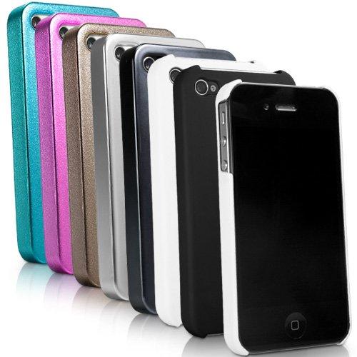 BoxWave Coque rigide pour iPhone 4-Ultra Low Profile, coque fine-Étuis et housses pour iPhone 4 (Bleu Pailleté)