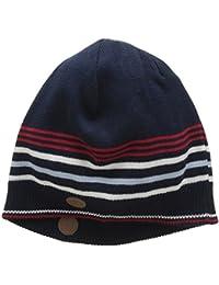 Merc of London Bonnet Tricot à Rayures Tivoli, Sombrero de Sol para Hombre, Azul (Marine), Talla Única