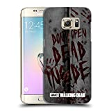 Offizielle AMC The Walking Dead Dead Inside Typografie Ruckseite Hülle für Samsung Galaxy S7 edge