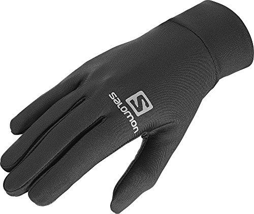 Salomon, guanti da corsa leggeri unisex, utilizzabile con touchscreen, agile glove u, taglia: m, nero, l39014400