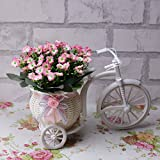Wawoo Flotadores de simulación Milán Flores artificiales en la forma creativa de la bicicleta del estilo decoración de la boda de la fiesta en casa ramos de flores