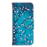 Hozor Huawei P smart/Enjoy 7S Hülle, Flip Case Lederhülle Wallet Ledertasche Klappetui Brieftasche Schutzhülle mit Magnetverschluss Kartenfächer Standfunktion