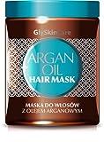 Puro olio di argan Hair Mask-infuso con ingredienti naturali -100% puro olio di argan, vitamina E, cheratina, estratto di aloe e pantenolo-300ml