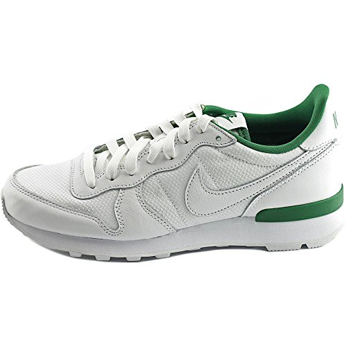 Nike Internationalist WIM QS Toile Chaussure de Tennis White-Pine Green-Ultraviolet