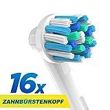 CARETIST Crossaction Aufsteckbürsten für Oral B Elektrische Zahnbürsten 16-er Pack. Cross Action Zahnbürstenaufsätze ist voll kompatibel mit Braun Oralb Vitality, Pro Health, TriZone, Advance Power, Professional Care, Triumph und Deep Sweep -