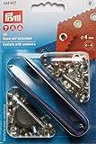 Prym ÖSen, 4mm Plus Unterlegscheiben, 50Stück, silberfarben