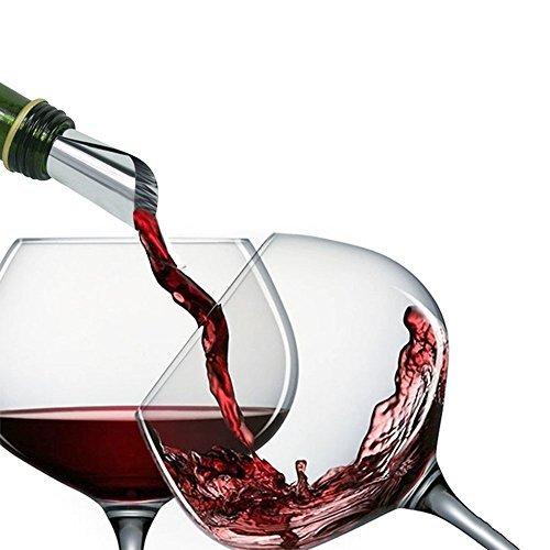 navpeak Wein Drop Stop New Wein Disk Ausgießer Drop Stop wiederverwendbar Auslauf Stück Wine Tasting Party Geschenk 10PCS
