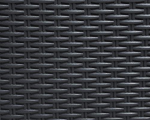 Kissenbox Santo Rattan Optik Sitztruhe Auflagenbox anthrazit 560 Liter XXL -