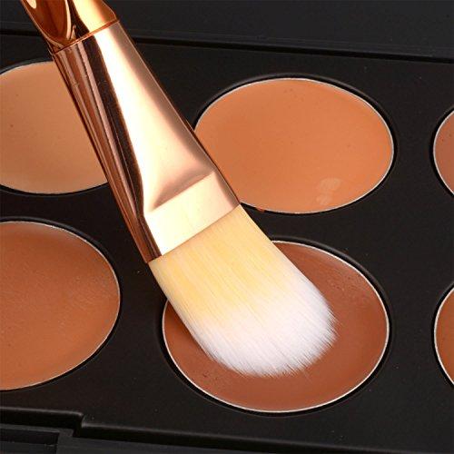 Make Up Brushes Start Makers 8 Pieces Makeup Brush Set Rosegold Essential Professional Foundation Kabuki Cosmetics Brushes & Free Beauty Blender