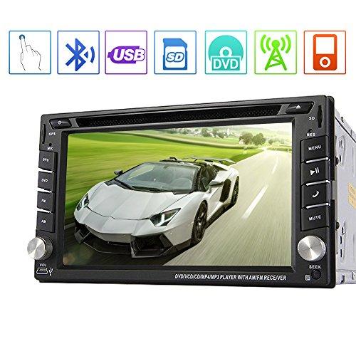 EinCar Win8 6.2 'en st¨¦r¨¦o Dash voiture nouveau cadre Double Din Lecteur DVD GPS Sat Nav ¨¤ ¨¦cran tactile de navigation Appuyez Bluetooth / RDS / Subwoofer / Syst¨¨me de stationnement...