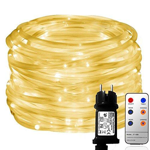 MaLivent 10M 136er LED Lichtschlauch als Weihnachtsdeko– Lichterschlauch warmweiß –Lichterkette Innen/Außen–Niederspannung–wasserdicht IP65 8 Modi Fernbedienbar Weihnachten weihnachtsbeleuchtung