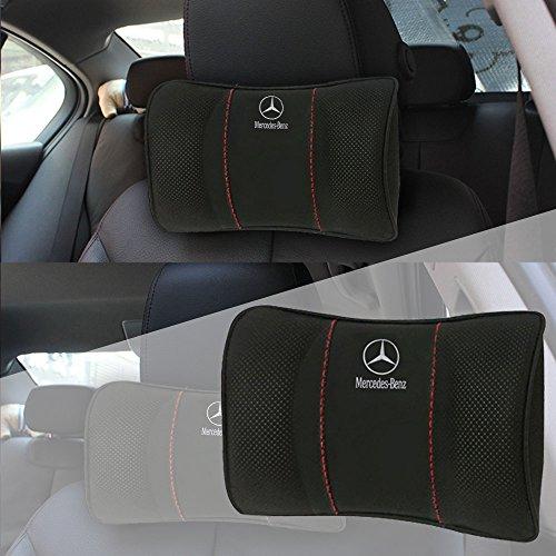 OPAYIXUNGS Auto Hals Kissen Mercedes-Benz Nackenstütze Nackenkissen für Autositz Auto Hals Kissen, Kopfstütze 1pack