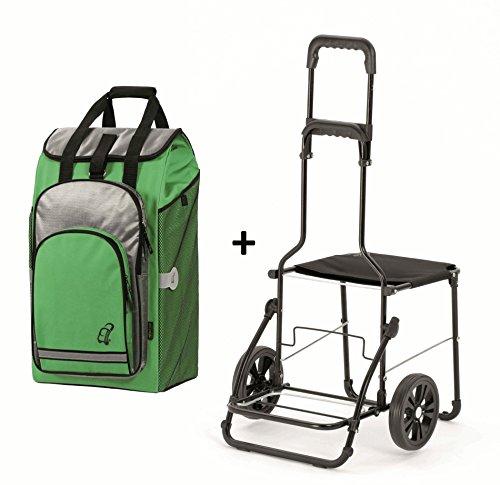 Einkaufstrolley für Senioren – Andersen Komfort Shopper Grün - 2