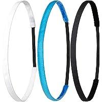 Ivybands ® | Das Anti-Rutsch Haarband | 3-er Pack | Ivybands Ivy Beginners Set | 1cm Breites Haarband Super Thin One Size | tropical blau weiss schwarz | IVY005 IVY507 IVY003