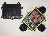 XL -Verbindungsbox für den professionellen Einsatz, mit Verbindungsklemmen (WAGO-Technik), für bis zu 5-adrige Kabel, Kabelverbinder, IP68, Kabelmuffe wasserdicht, fuer 230V, 12V/24V oder Datenkabel