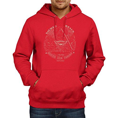 TEXLAB - Triforce Illuminati - Herren Kapuzenpullover, Größe XL, rot