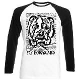 Teesquare1st Men's BRITISH BULLDOG MY BODYGUARD PB 1 Black Sleeved Baseball T-Shirt Size Small