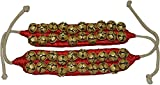 Best Line Dances - GoldGiftIdeas Brass 2 Line Red Cloth Pad Ghungroos Review